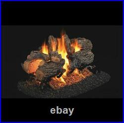 Real Fyre -Charred Series -Charred Oak See Thru Gas log Set 16