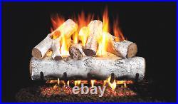Real Fyre Designer Series White Birch W-18 Standard 18 Vented Gas Log Set