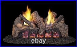 Real Fyre Foothill Oak Vent Free Gas Log 18 Propane Remote Control