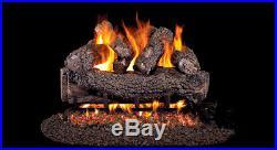 Real Fyre Forest Oak 18 Vented Gas Log Natural Variable Remote