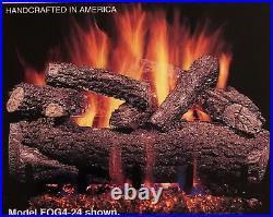 Real Fyre Forest Oak 24 Vent Free Gas Log Natural Gas Remote