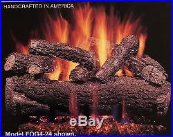 Real Fyre Forest Oak 24 Vent Free Gas Log Propane Remote