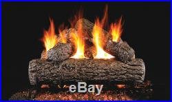 Real Fyre Golden Oak 24 Vented Gas Log Natural Gas R-24 with Remote