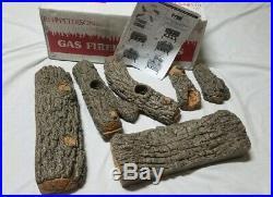 Real Fyre Golden Oak Designer Plus Vented Gas Logs, Logs Only, 18