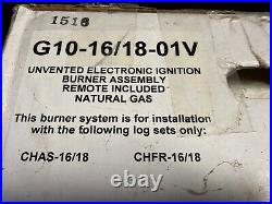 Real Fyre Peterson Charred Frontier Oak Gas Log Set (Non-Vented)