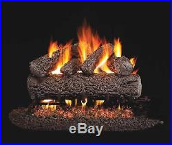 Real Fyre Post Oak Vented Gas Logs, Logs Only, 24