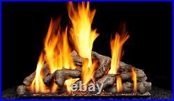 Real Fyre Shoreline Designer Driftwood SDW-24 P45 Burner 24 Vented Gas Log Set