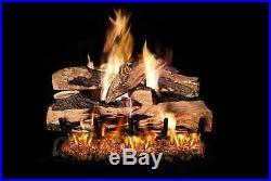 Real Fyre Split Oak Designer Plus Vented Gas Logs, Logs Only, 24