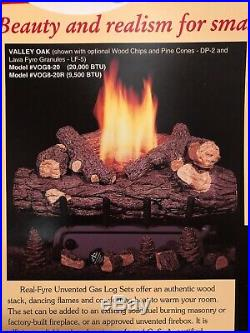 Real Fyre Valley Oak Vent Free Gas Log 20 Natural Gas Remote Ready