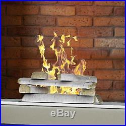 Regal Flame 10 Piece Set Of Birch Ceramic Wood Medium Gas Fireplace Logs Birch