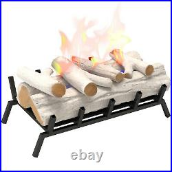 Regal Flame 24 Ethanol Fireplace Log Set With Burner Insert From Gas Logs Birch