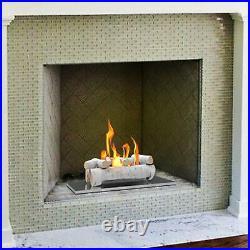 Regal Flame 6PC 22 Ceramic Propane Gel Ethanol Gas Fireplace FirePit Logs Birch