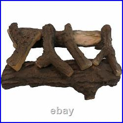 Regal Flame 6 PC 22 Ceramic Wood Large Gas Fireplace Logs for All Types of I