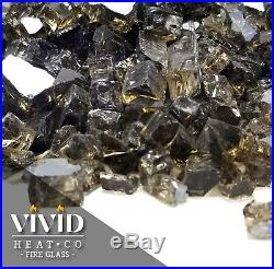 Sparkling Bronze 1/2 Premium Reflective Fire Glass for Fireplace and Fire Pit