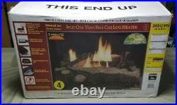 Split Oak Emberglow Gas Log Vent Free with Burner and Logs Made in USA