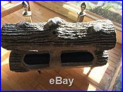Strait / Richards 30in Antique Terra Cotta Gas Logs Fireplace Cr 1900 / 100 lb