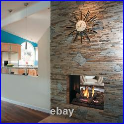 Superior DRT63ST Two-Sided See Through Gas Fireplace with Split Oak Log Set