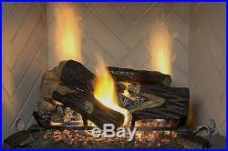 Sure Heat BRO24DBRNL-60 Vented Gas Fireplace Logs, 24, Charred Oak