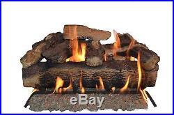 Sure Heat Charred Oak Vented Gas Logs, 24-Inch 50,000 BTU
