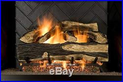 Sure Heat SH24DBRNL-60 Vented Gas Fireplace Logs, 24, Charred Hickory