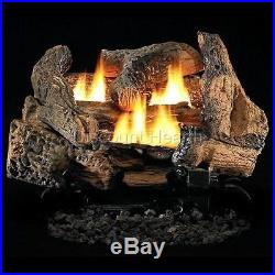 Tupelo-2 18 or 24 Vent Free Fireplace Gas Logs COMPLETE REMOTE Start NG or LP