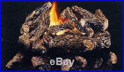 Vanguard Savannah Black Jack Oak Vent Free Gas Log 24 Remote Control