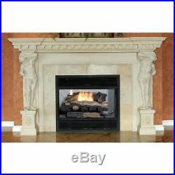 Vent Free Gas Fireplace Heater Log Set Decorative Fire Natural Efficient Burner