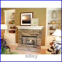Vent Free Gas Log Set Dual Fuel Propane Decorative Manual Control Fire Glass