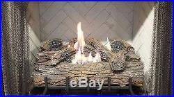 Vent-Free Logs, Monessen Charred Oak, With Remote, 24 inch, Natural Gas