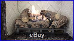 Vent-Free Logs, Monessen Mountain Cedar, Manual Control, 18 inch, Propane