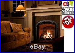 Vent-Free Natural Gas Fireplace 24 in. Large Log Set DIY Insert Heat Kit Burner