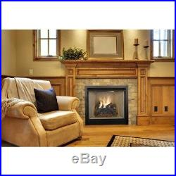 Vent-Free Natural Gas Fireplace Logs Glowing Embers DIY Insert Heat Kit Burner
