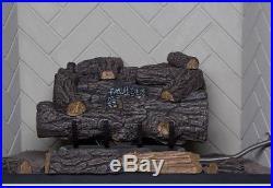 Vent Free Propane Gas Fireplace Logs Remote Savannah Oak 18 inch Propane Home