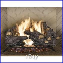Vented Gas Fireplace 18 Natural Fire Manual Decorative Log Efficient Heater Flu