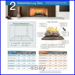 Vented Gas Fireplace Logs Set 18 Natural Vent Free Fire Place Insert Realistic