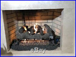 Vented Gas Log 18 Sierra Oak Propane Remote Ready