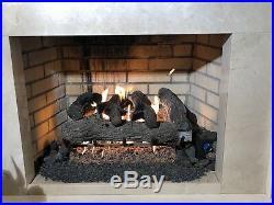 Vented Gas Log 24 Sierra Oak Propane Remote Ready