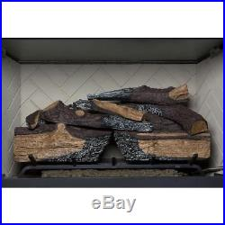 Vented Gas Log Set with Glowing Embers 30 Decorative Realistic Fireplace Logs