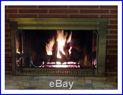 Vented Natural Gas Fireplace Log Set Insert 18 Logs Oak 50,000 BTU Burner Fire