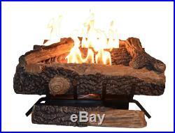 Ventless Fireplace Log Gas Large Natural Indoor Decorative