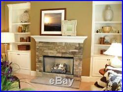 Ventless Fireplace Logs Natural Gas Liquid Propane Dual Fuel Insert Kit 18 inch