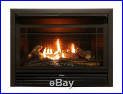 Ventless Gas Fireplace Insert Logs Natural Propane 23 Inch Indoor 28,000 BTU New