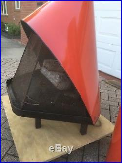 Vintage Majestic Cone Fireplace with gas log Mid Century Modern Goodness