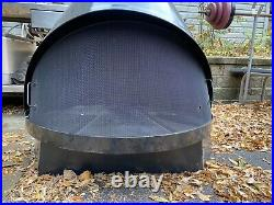 Vtg Preway Mid Century Freestanding Cone Fireplace BLACK Gas Log Art Deco Pipe