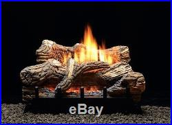 WHITE MOUTAIN HEARTH 18 FLINT HILL GAS LOG SET MILLIVOLT With REMOTE CONTROL