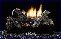 White Mountain Hearth 24-inch Whiskey River Gas Log Set With Vent Free With Remote